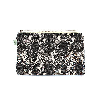Wolfie Flat Pouch by Curio Wolf