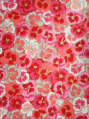 Pink and White Pansies #8 Chiyogami Full Sheet (18 x 24 inch)
