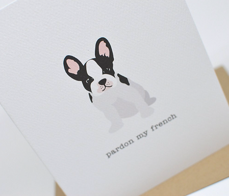 Pardon My French Card by Pennie Post