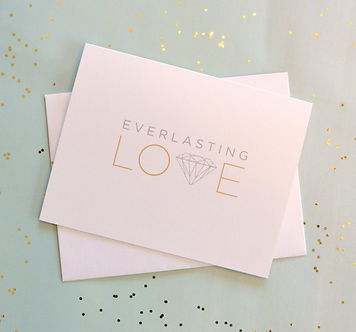 """Everlasting Love"" Metallic Diamond Card by Pennie Post"