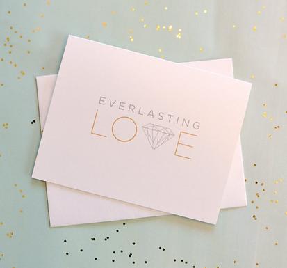 """Everlasting Love"" Metallic Diamond Card by Pennie Post"