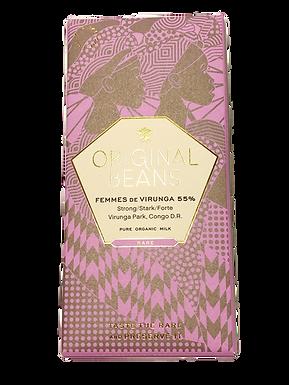 Organic Femmes de Virunga 55% Dark Chocolate Bar by Original Beans