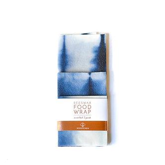 Shibori Dyed Reusable Wax Wraps (3 pk) by Bee Kitchen