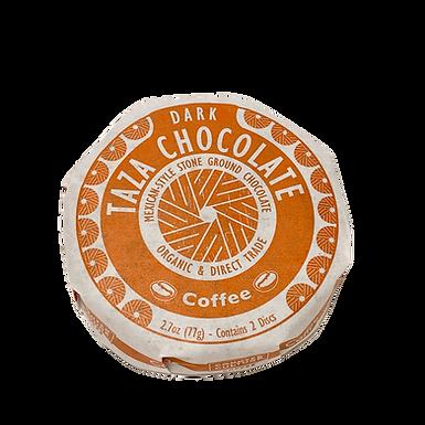 Organic Stone Ground Coffee 55% Dark Chocolate Discs by Taza Chocolate
