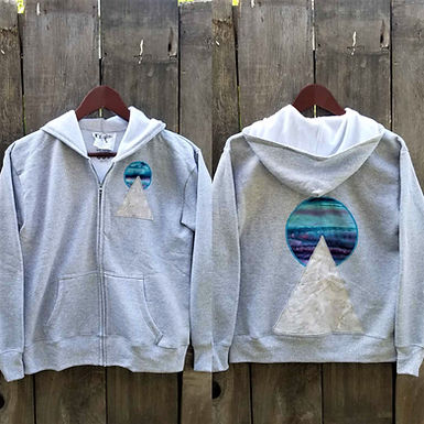 "Grey Geo ""Liquid Dawn"" S Hoodie By Eraeon"