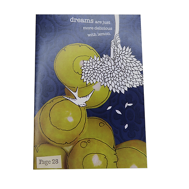 Dreams are just more delicious with lemon Card by Go Jet Go Designs