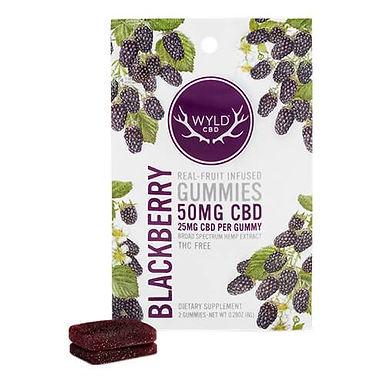 Wyld CBD - CBD Edible - Blackberry Gummies (2 ct, or 20 ct quanity options)