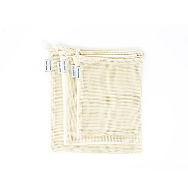 Organic Cotton Produce Bag Set ( 6 piece set) by The Waste Less Shop