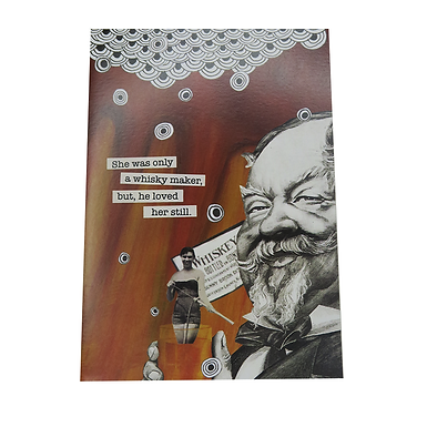 She was only a whisky maker, but he loved her still Card by Go Jet Go Designs