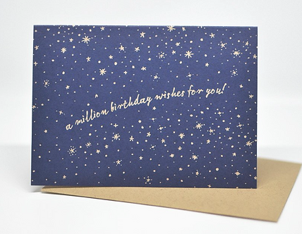 A Million Birthday Wishes For You! (Starry Sky Gold Letterpress)