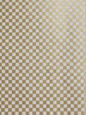 Gold Checker #15 Chiyogami Full Sheet (18 x 24 inch)