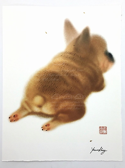 Puppy Sploot Print by Yannan Connie Kang