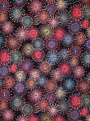 Fireworks on Black #14 Chiyogami Full Sheet (18 x 24 inch)