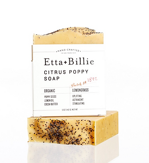 Organic Citrus Poppyseed Soap by Etta & Billie