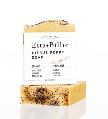 Organic Citrus Poppyseed Soap by Etta + Billie