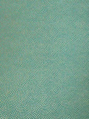 Circular Golden Dots on Turquoise #18 Chiyogami Full Sheet (18 x 24 inch)