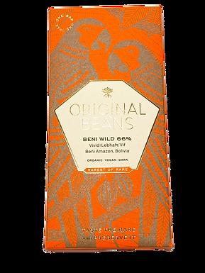 Organic Beni Wild Harvest 66% Dark Chocolate Bar by Original Beans