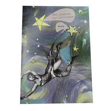 Well, guess we can't all be stars. Word. Card by Go Jet Go Designs