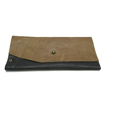 """""""Creedence"""" Black Leather Wallet by Julienne English"""