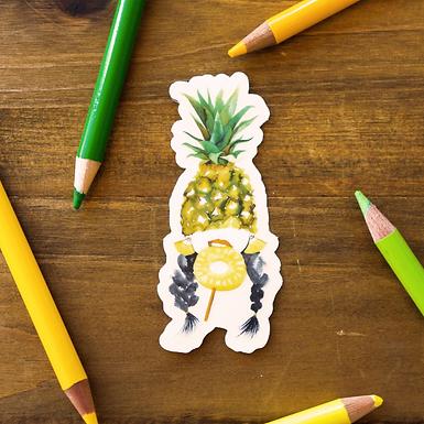 Pineapple Lady Fruit Sticker by Harumo Bakery