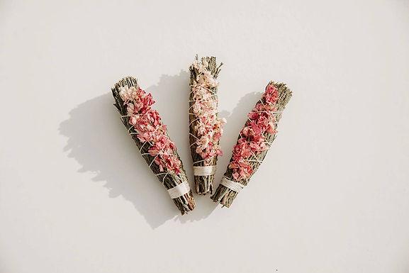 Cedar + PinkLarkspur Sustainable Smudge Stick by Black + Jane