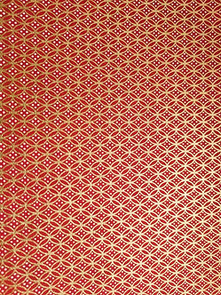 Gold Oval Pattern on Red #2 Chiyogami Full Sheet (18 x 24 inch)