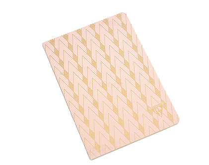 Neo Deco Pink Cahier Journal (A5 Lined) by Clairefontaine (can be customized)