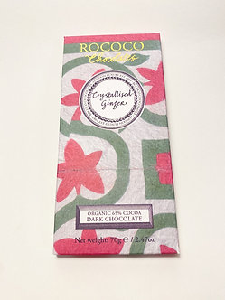 Rococo Crystalized Ginger Dark Chocolate 65%