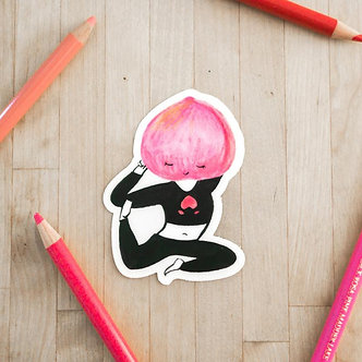 Yoga Peach Sticker by Harumo Bakery