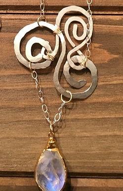 Magic Moonstone Necklace (.925 silver)