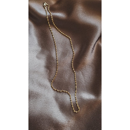 ROPE GOLD PLATED NECKLACE (TINY)
