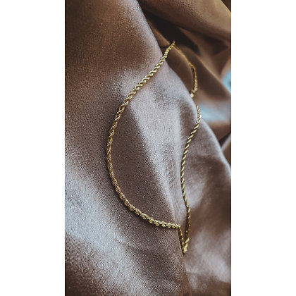 ROPE GOLD PLATED NECKLACE (SMALL)