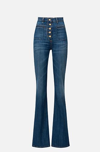 ELISABETTA FRANCHI Jeans a gamba larga