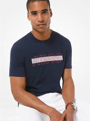 MICHAEL KORS T-shirt in jersey di cotone con logo