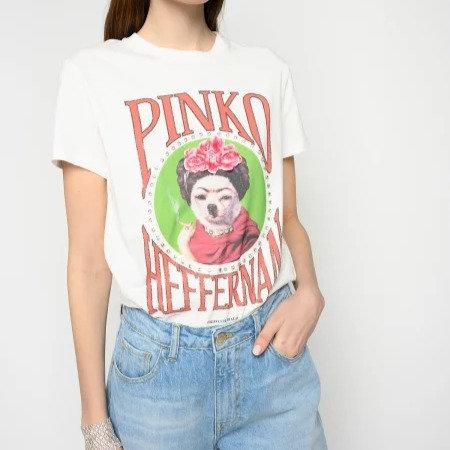 PINKO T-shirt manica corta stampata