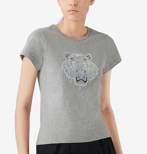 KENZO T-shirt icon con stampa tigre floccata