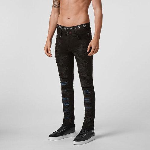 "PHILIPP PLEIN Jeans "" Super Straight Cut Skeleton """