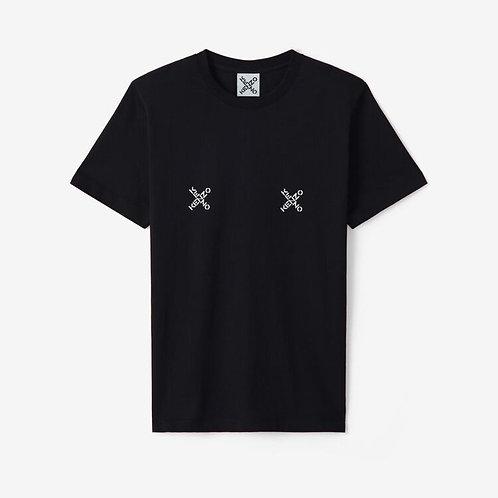 KENZO T-shirt over con logo stampato