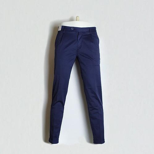 RE-HASH Pantalone in gabardina di cotone con pinces