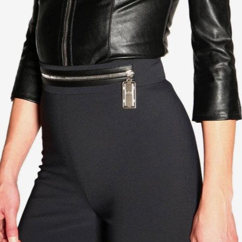 ELISABETTA FRANCHI Pantalone con zip in vita
