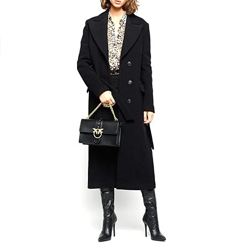 PINKO cappotto a vestaglia con cintura