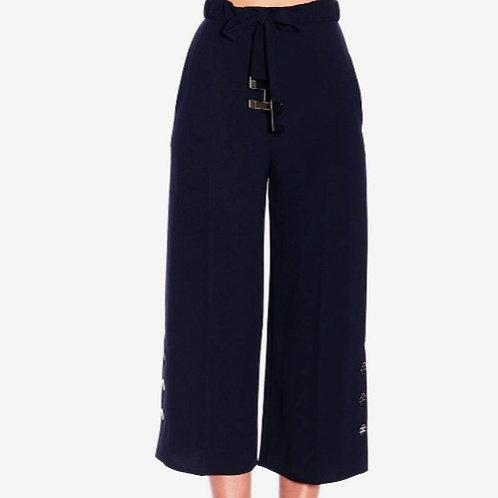 ELISABETTA FRANCHI Pantalone con vita alta e logo