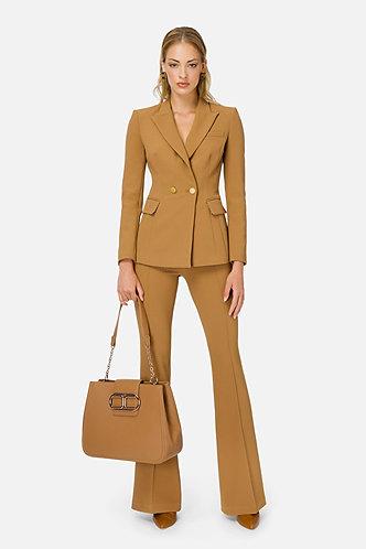 ELISABETTA FRANCHI Tailleur giacca e pantalone a zampa