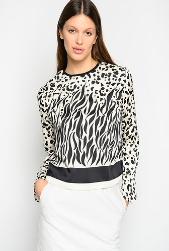 PINKO Blusa mix animalier degradè