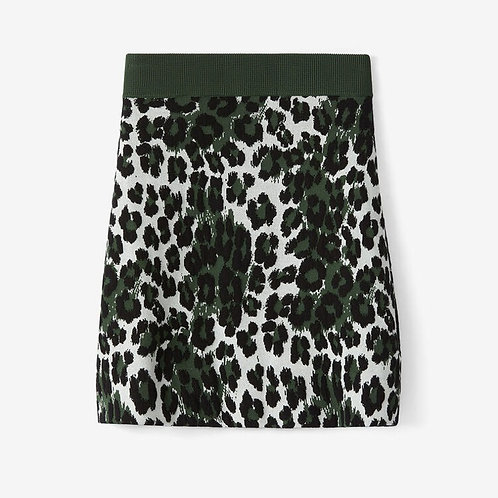 KENZO Gonna leopard in jacquard