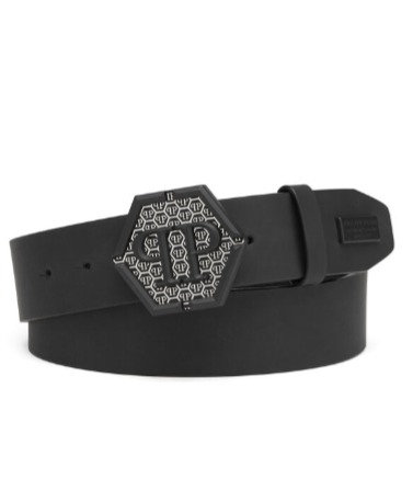 PHILIPP PLEIN Cintura con logo Belt Statement