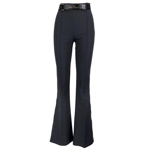 ELISABETTA FRANCHI Pantalone a zampa con cintura in vita