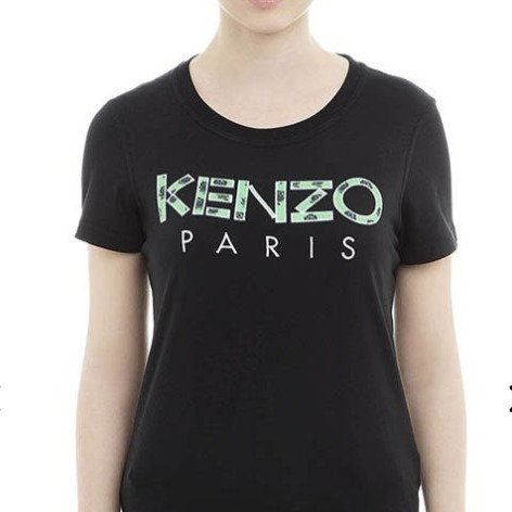 KENZO T-Shirt manica corta con logo ricamato