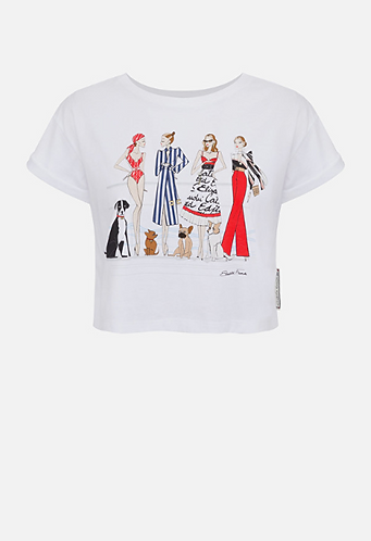 ELISABETTA FRANCHI T-shirt con stampa