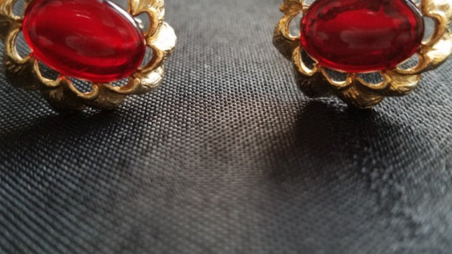 Ruby Red Cuff Links